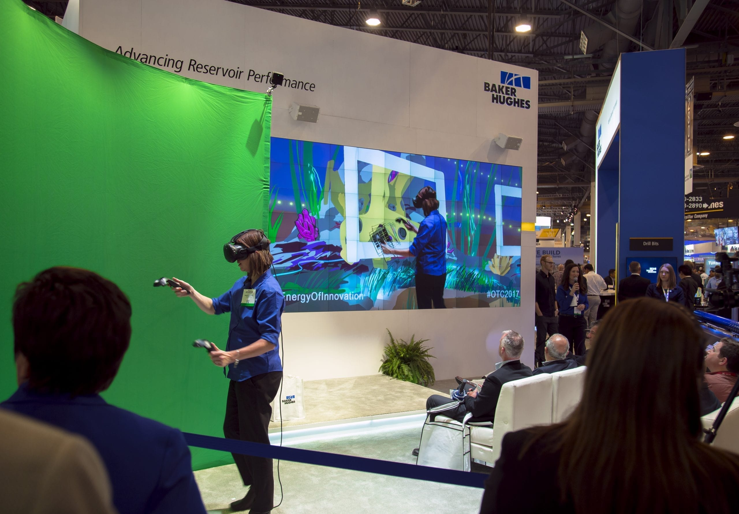 Behind the Scenes at a live mixed reality VR event for Baker Hughes